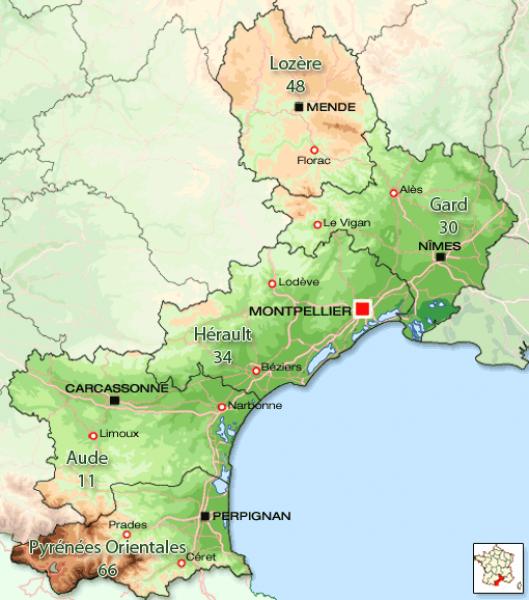 De regio Languedoc-Roussillon