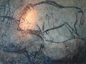 Muurschildering in de grot van Niaux