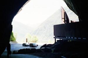 Ingang van de grot van Niaux