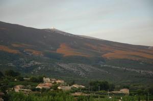 Mont Ventoux gezien vanuit Bèdoin