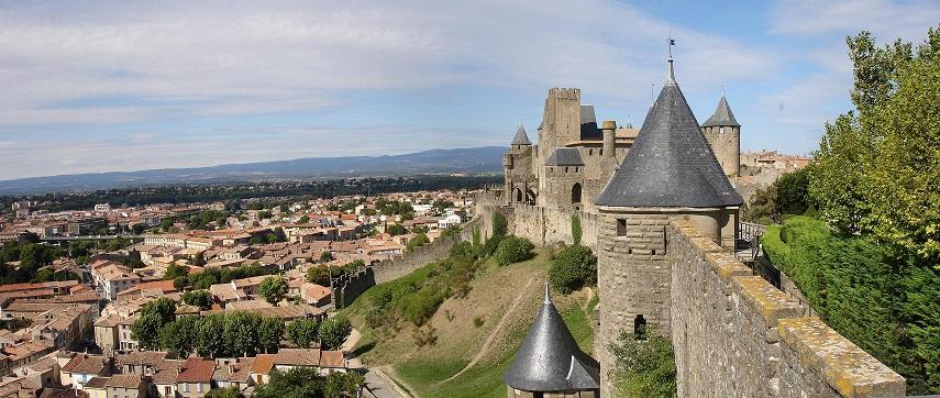 Carcassonne, uitzicht vanuit de Cité
