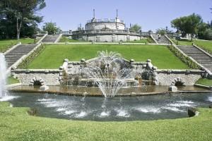 Een van de vele prachtige parken in de stad Valence