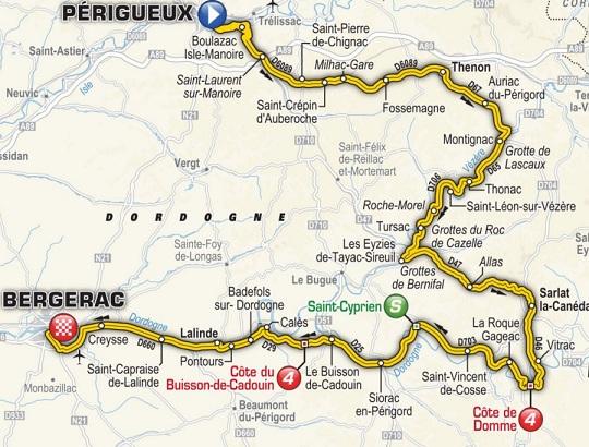 Etappe 10 Périgueux-Bergerac